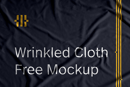 Free Wrinkled Cloth Mockup