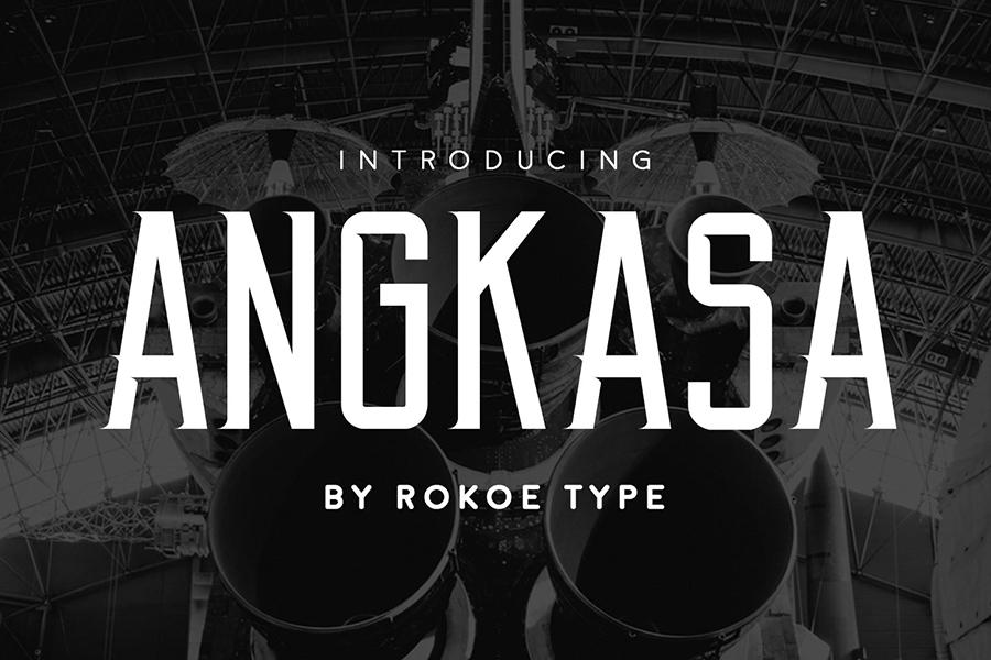 Angkasa Free Display Font