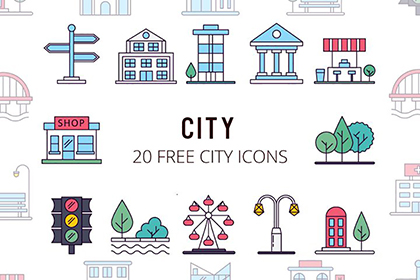 City Vector Free Icon Set