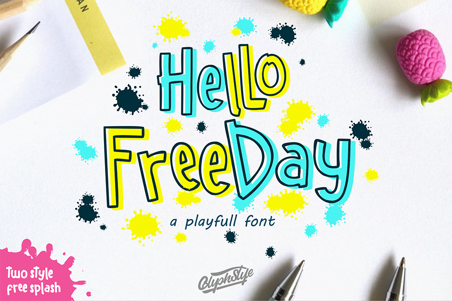 Hello Freeday Playful Font