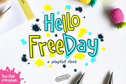 Hello Freeday Playful Font