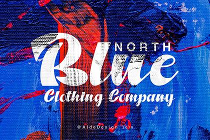 North Blue Bold Script Font