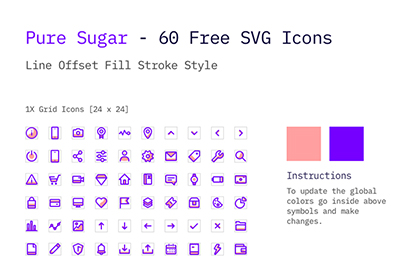 Pure Sugar Vector Icons