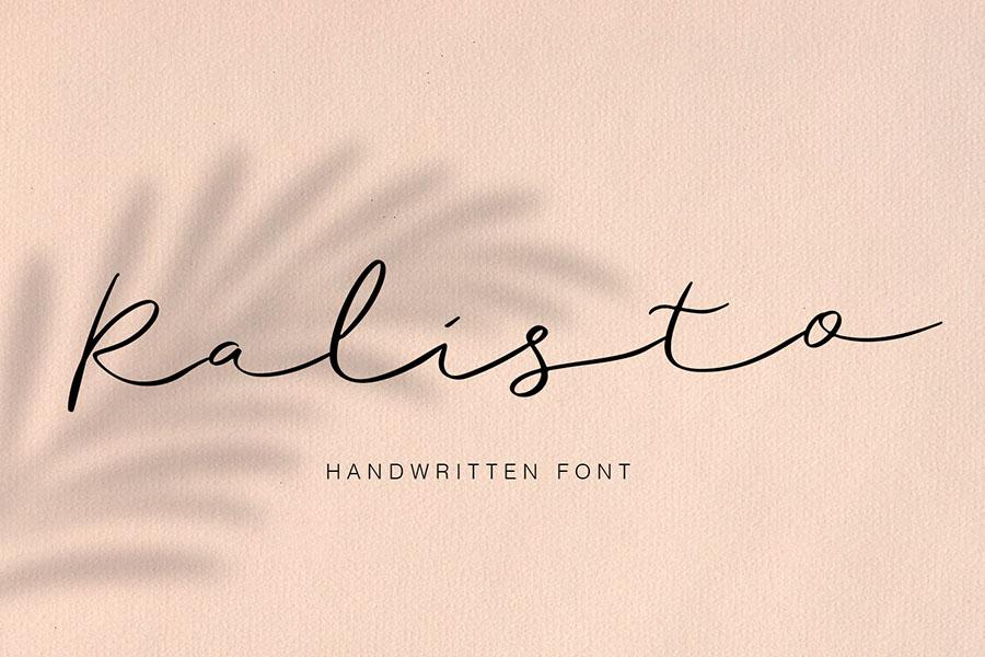 Ralisto Handwritten Script Demo – Free Design Resources