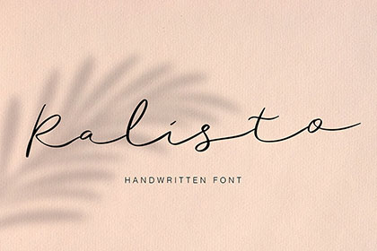 Ralisto Handwritten Script Demo