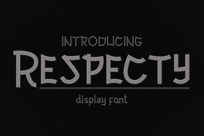Respecty Display Font Demo