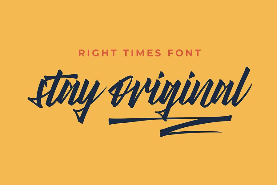 Right Times Brush Script