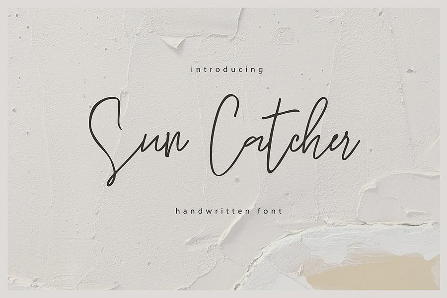 Sun Catcher Handwritten Script