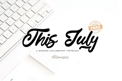 This July Script Free Font