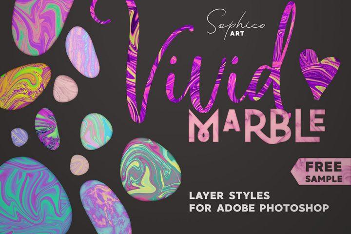 Vivid Marble Photoshop Effect