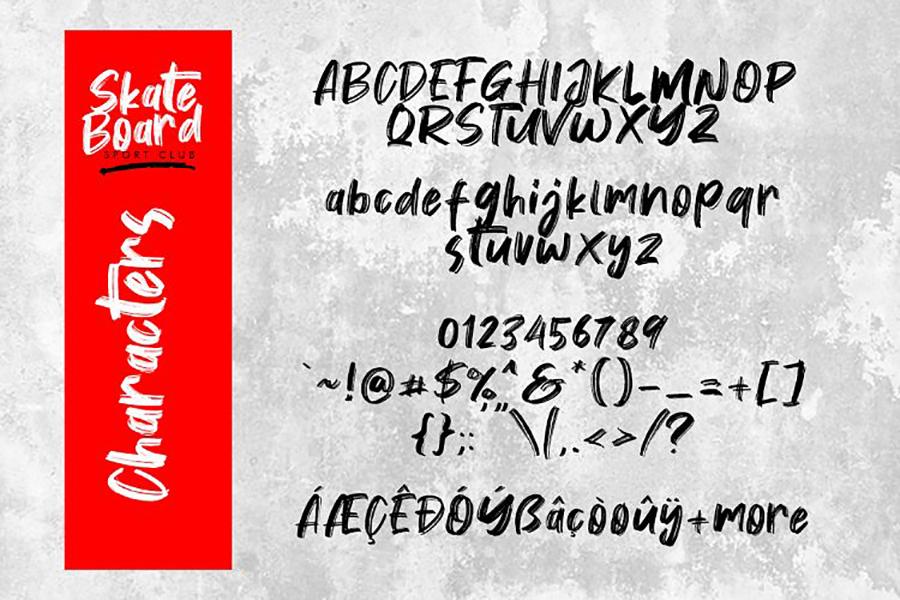 Vontens Handwriting Brush Font