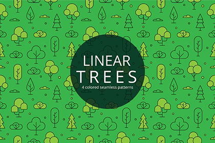 Linear Tree Seamless Pattern