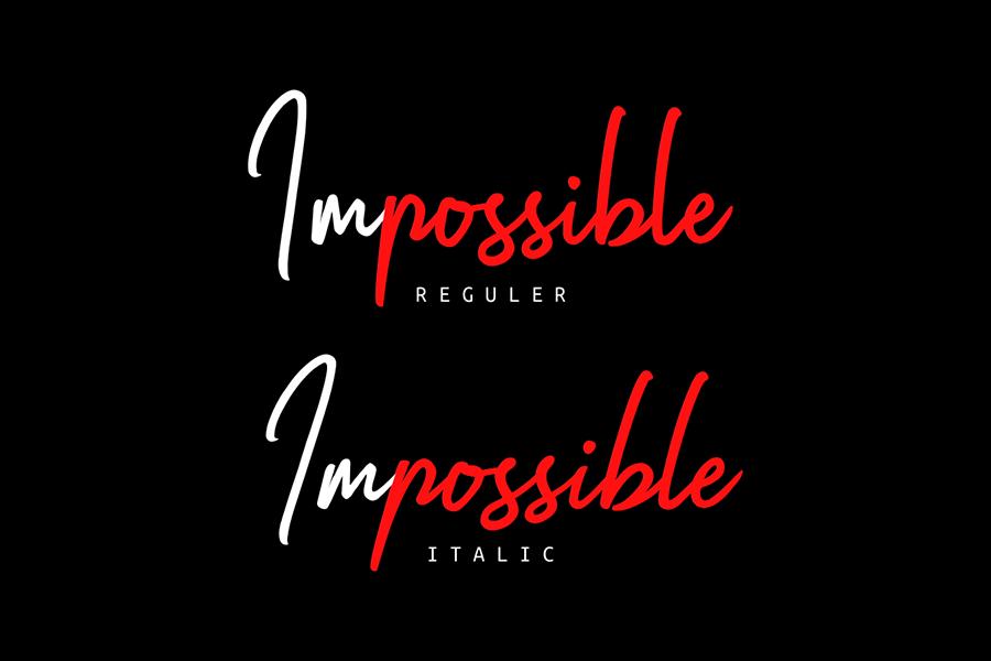 Impossible Script Font Demo