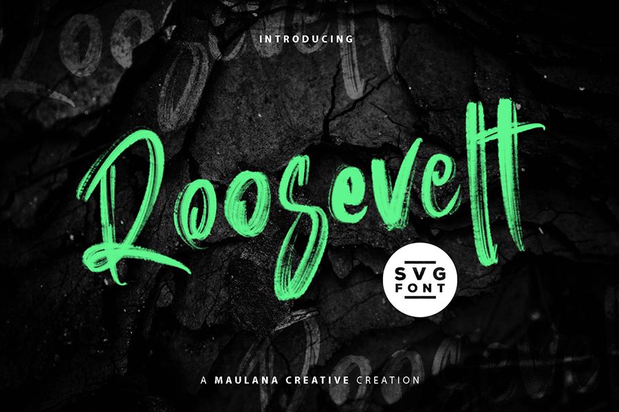 Roosevelt Brush Font Demo – Free Design Resources
