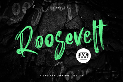 Roosevelt Brush Font Demo