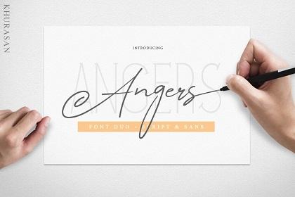 Angers Signature Script Font