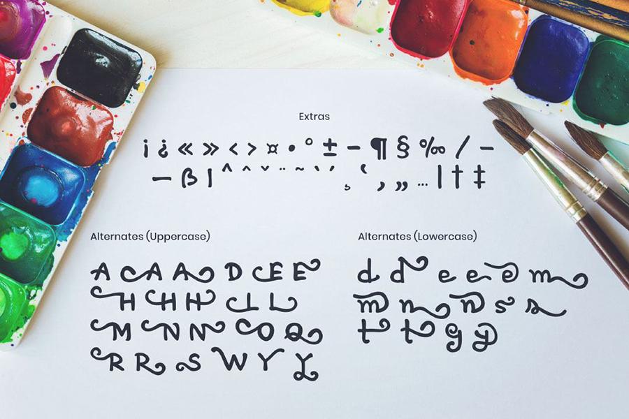 Artless Handwritten Font