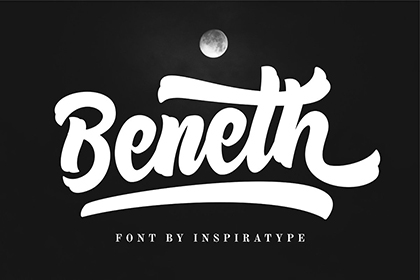 Beneth Handlettering Script