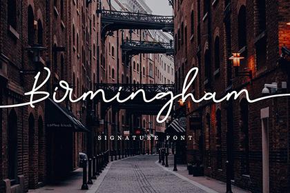 Birmingham Signature Script Font