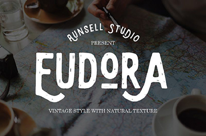 Eudora Vintage Display Font