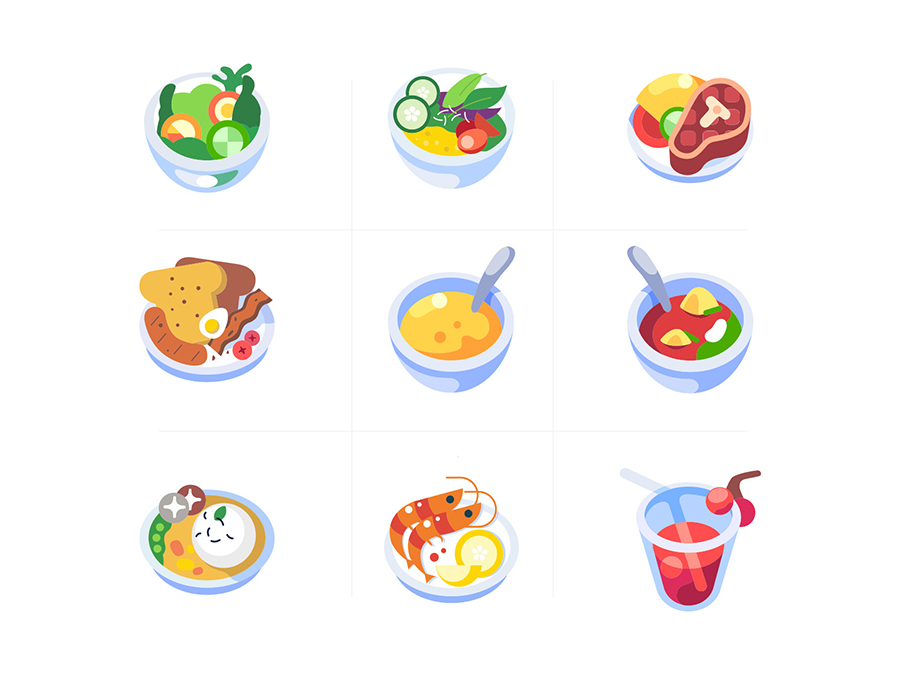 9 Free Colorful Food Icons