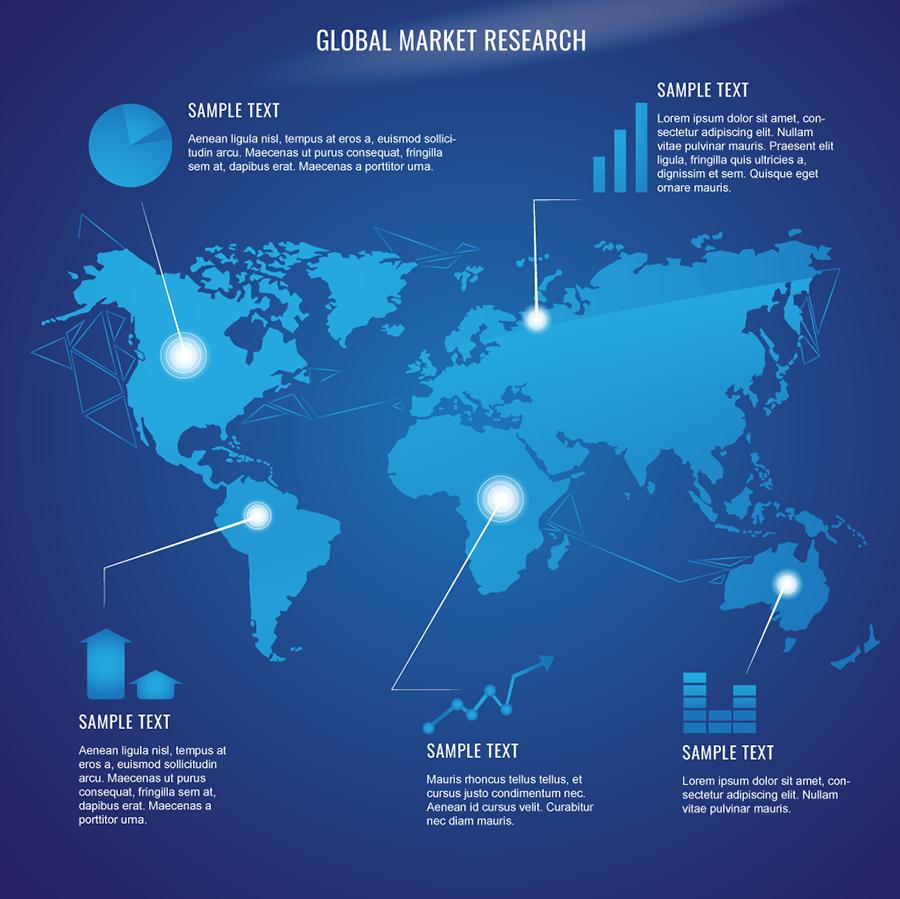 Futuristic World Map Design