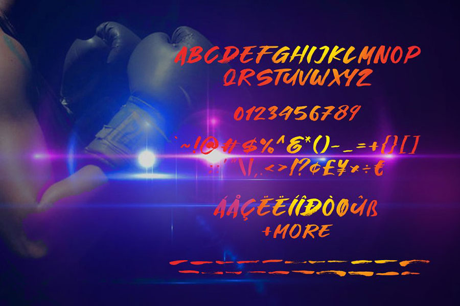 Great Fighter Display Font