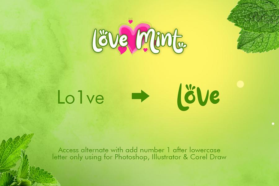 Love Mint Display Font Demo