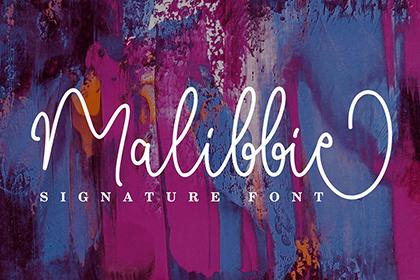 Malibbie Monoline Script