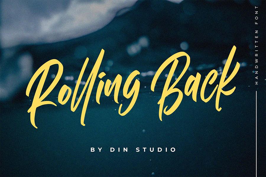Rolling Back Handlettering Script