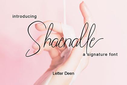 Shaenalle Script Font Demo