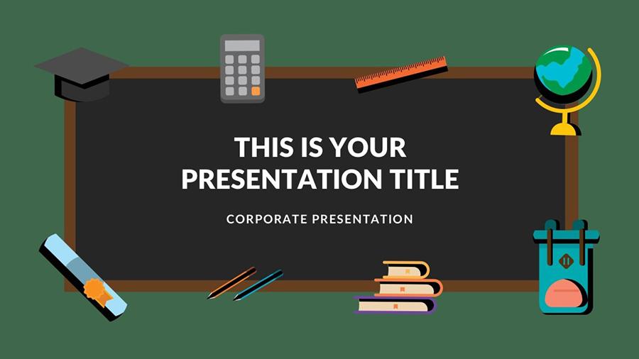 Blackboard Free Presentation Template