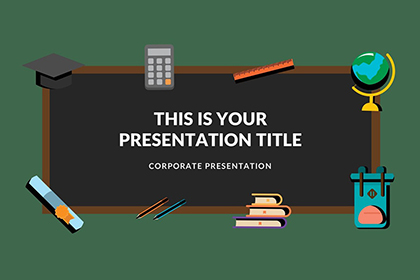 Blackboard Free Presentation Template