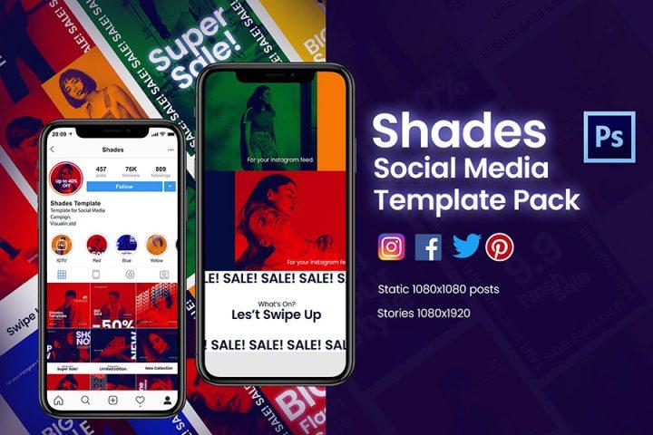 Shades Social Media Templates