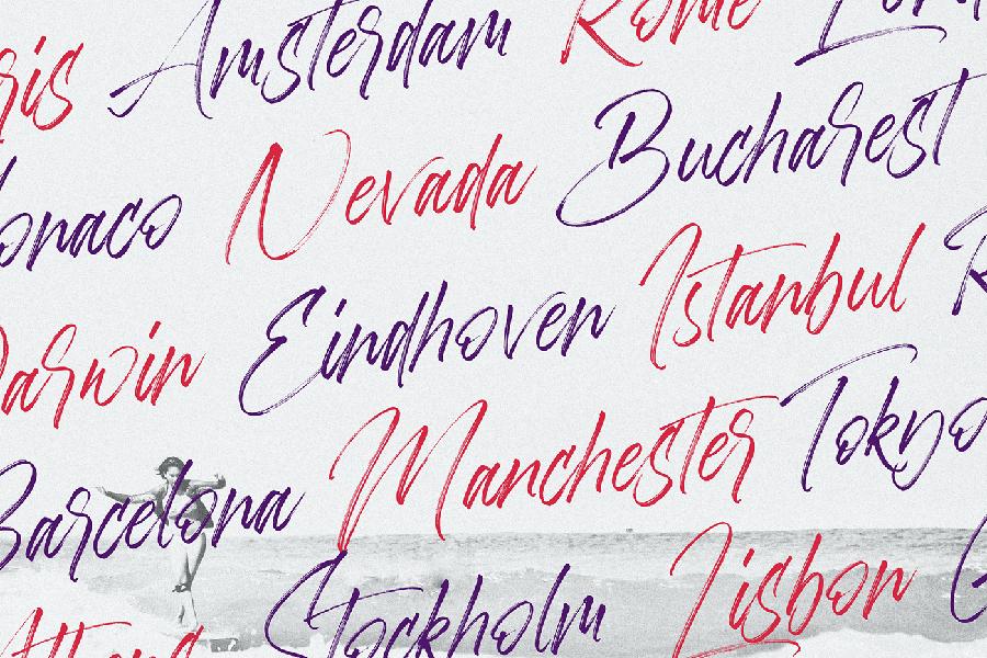 Aerobrush Handlettering Brush Script