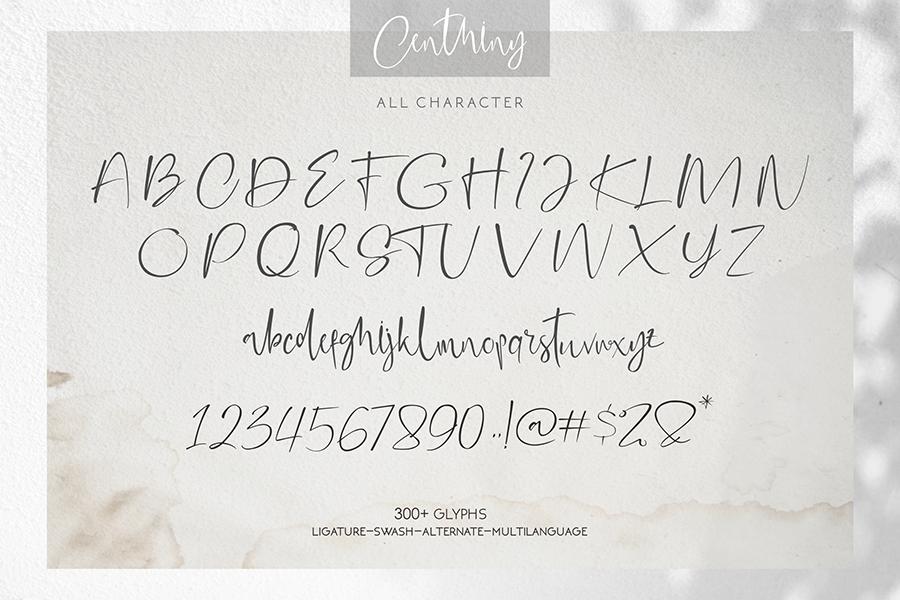 Centhiny Beautiful Handwritten Font