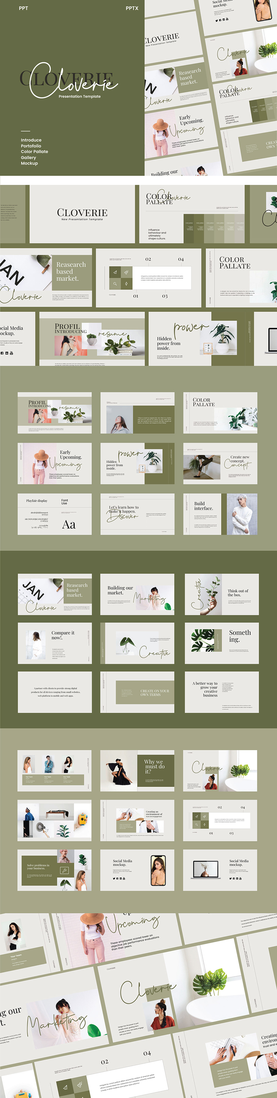 Cloverie PowerPoint Template