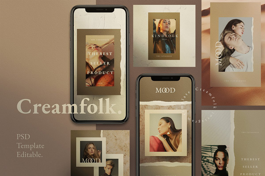 Creamfolk Social Media Template