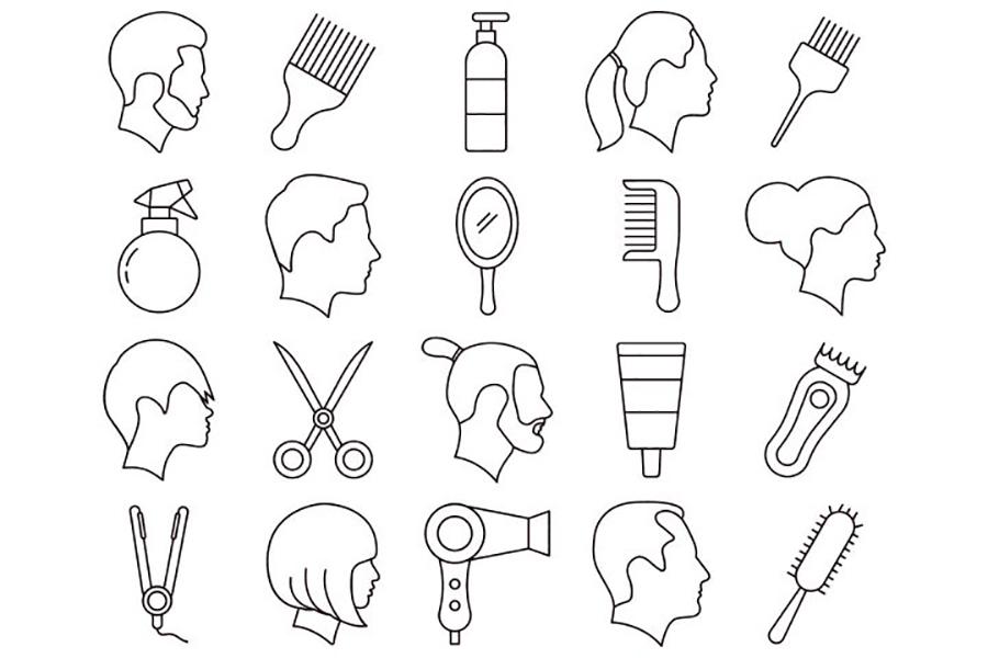 Hairdresser Vector Icon Set