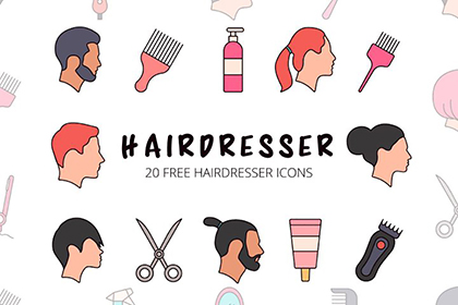 Hairdresser Vector Icon Set