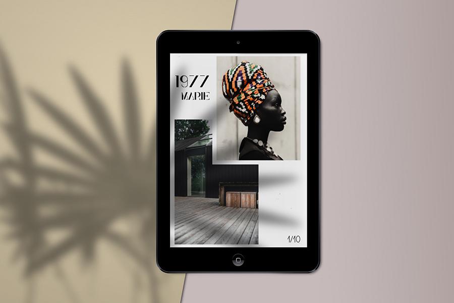 iPad Mini Mockup Scene