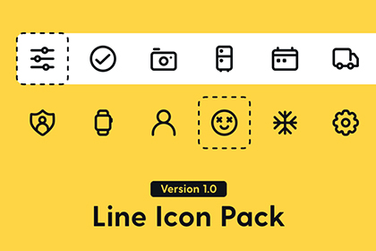 400+ Essential Line Icon Pack