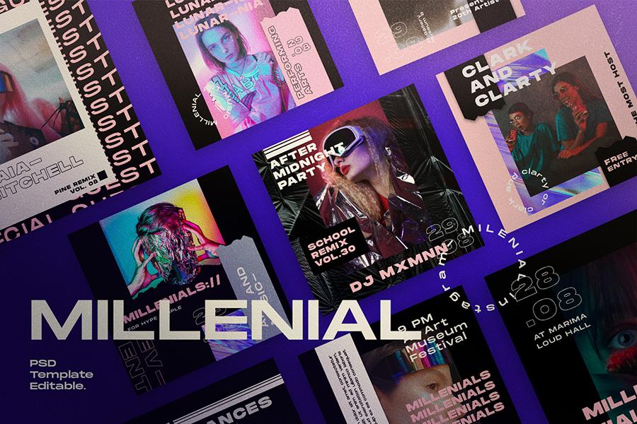 Millennial Social Media Template