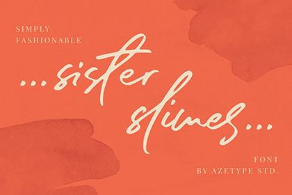 Sister Slimes Script Font