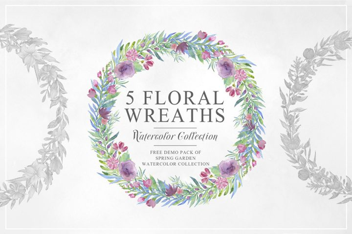 5 Free Beautiful Floral Wreath