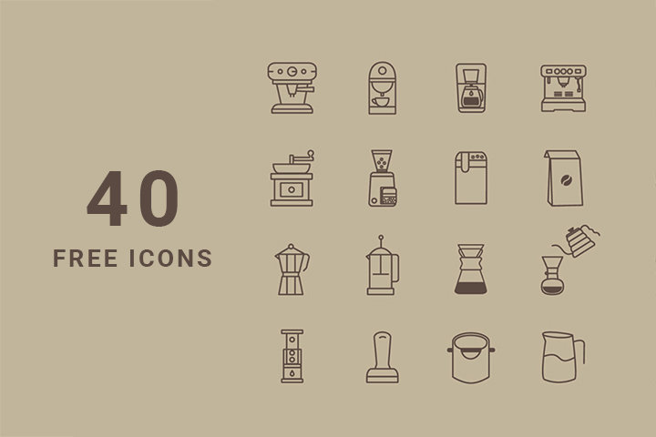 Coffee Store Icon Set