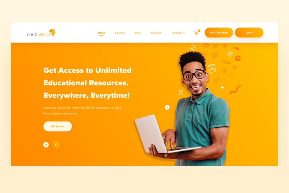 Free E-learning UI Kit