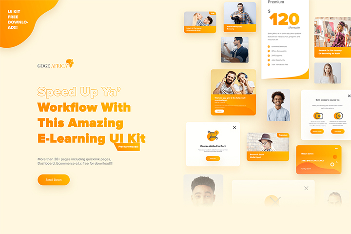 Free E-learning UI Kit