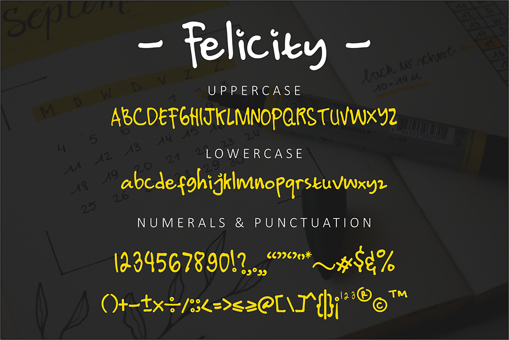 Free Felicity Display Font