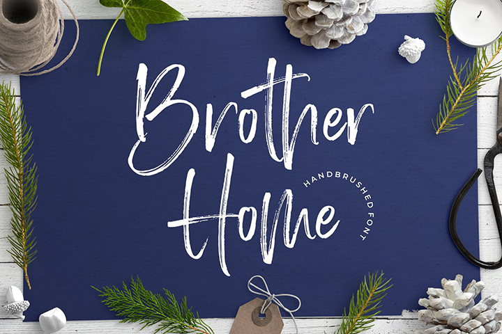 Free Brother Home Font
